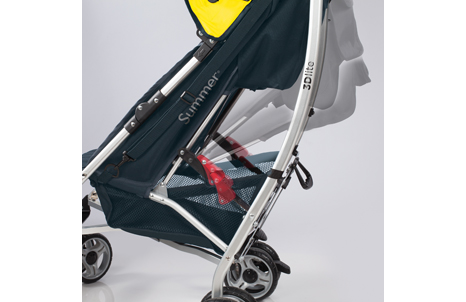 3D lite™ Convenience Stroller - Kingston Yellow (Navy and Yellow)