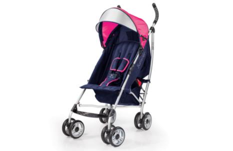 3D lite™ Convenience Stroller - Newport Pink (Navy and Pink)