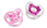 Bliss Orthodontic Pacifier 2-Pack 6+M (Pink)