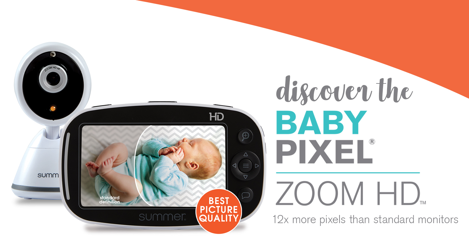 Discover the Baby Pixel Zoom HD Video Monitor. It has the best picture quality with 12x more pixels than standard monitors.